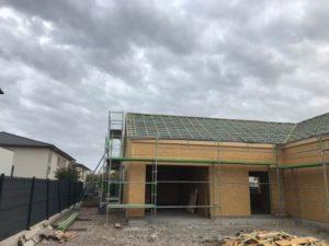 Chantier en cours construction maison ossature bois + couverture à venir - 68 wittelsheim