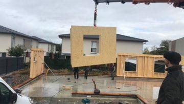 Chantier construction maison ossature bois Wittelsheim