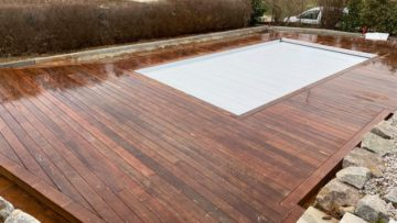 Terrasse autour de piscine en IPE